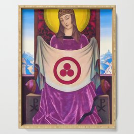 Nicholas Roerich - Madonna Oriflamma - Digital Remastered Edition Serving Tray