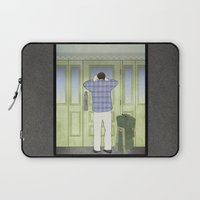 military Laptop Sleeves featuring Military Homecoming by Aquamarine Studio