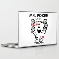 poker Laptop & iPad Skins featuring Mr Poker by NicoWriter