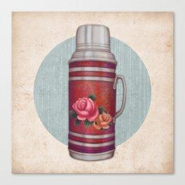 Retro Warm Water Jar Canvas Print