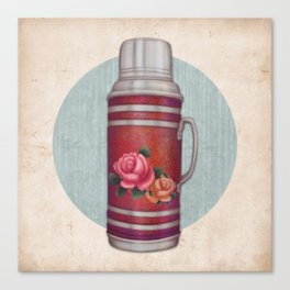 Retro Warm Water Jar Canvas Print