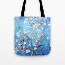 Vincent Van Gogh Almond Blossoms. Sky Blue Tote Bag