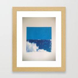SKY/BLU Framed Art Print