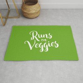 Runs on Veggies Text Rug