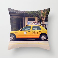 Yellow Cab Co ∫ Living Los Angeles Throw Pillow