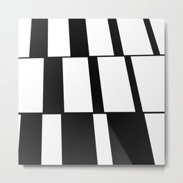 Rising Rectangles #blackandwhite #pattern #decor #society6 Metal Print