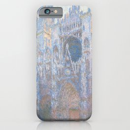 Monet, Rouen Cathedral Series, west facede (La Cathédrale de Rouen) iPhone Case