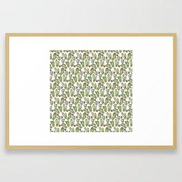 a slice of cacti Framed Art Print