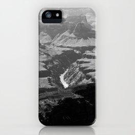 Grand Canyon Monochrome iPhone Case
