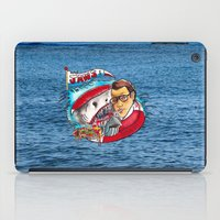 jaws iPad Cases featuring Jaws  by Christopher Chouinard