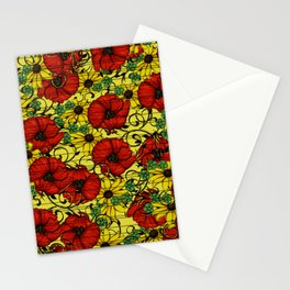 Poppy forget me not Stationery Cards