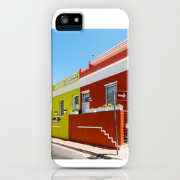 Colorful Bo-Kaap area of Cape Town iPhone Case