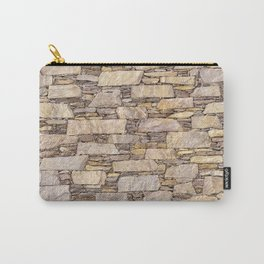 Rustic shale terrazzo wall Carry-All Pouch