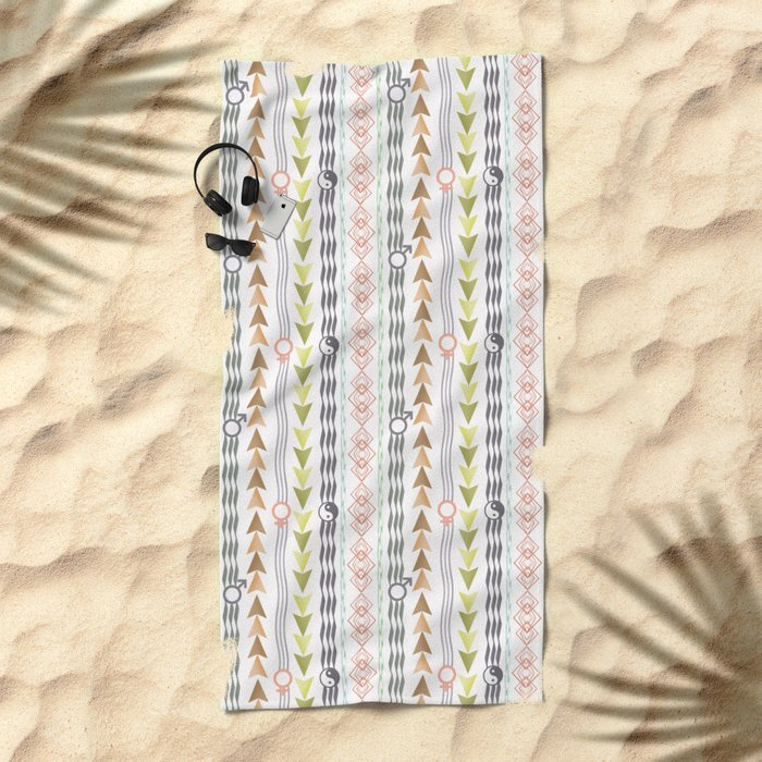 Abstract ethnic pattern. Beach Towel