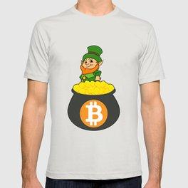 Leprechaun Bitcoin Pot Of Gold St Patricks Day HODL T-shirt