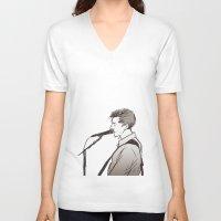 alex turner V-neck T-shirts featuring alex turner [3] by roanne Q