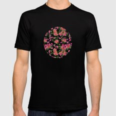 April blooms(Bougainvillea_blue) MEDIUM Mens Fitted Tee Black