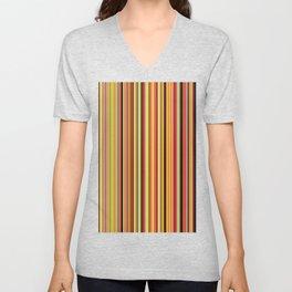 Old Skool Stripes - Bold - Extra Wide Unisex V-Neck