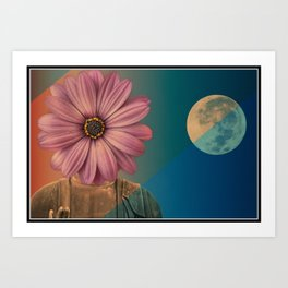 Moon Flower - Buddha Art Print