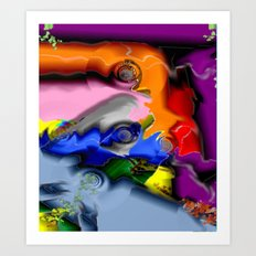 Caos Art Print