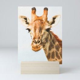 Giraffe watercolor painting #1 Mini Art Print