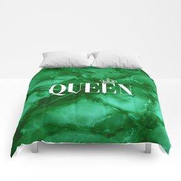 Queen Green Marble Comforters
