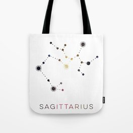 SAGITTARIUS STAR CONSTELLATION ZODIAC SIGN Tote Bag