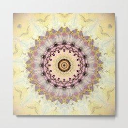 Summer Yellow and dusk Mandala Metal Print