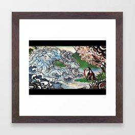 By the lake Framed Art Print