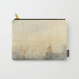 """J.M.W. Turner """"Venice: The New Moon – The Dogana from the steps of The Hotel Europa"""" Carry-All Pouch"""
