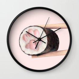 Sushi Paw Wall Clock