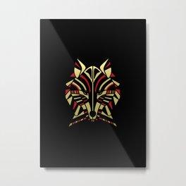 Coyote Trickster Tribal Art Totem Metal Print