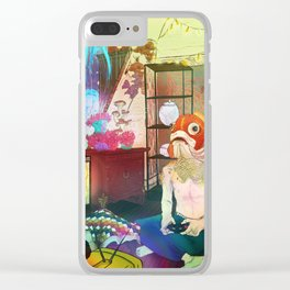 Tale_Suburbia_psychedelic cult oriental art Clear iPhone Case