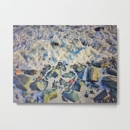 Pebble Wash - It Down Metal Print