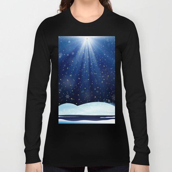 A Starry Winter's Night Long Sleeve T-shirt