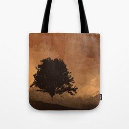 Warm Silhouette Tree Tote Bag