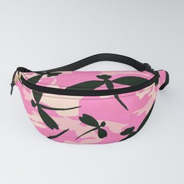 Pink Camouflage Dragonflies Fanny Pack