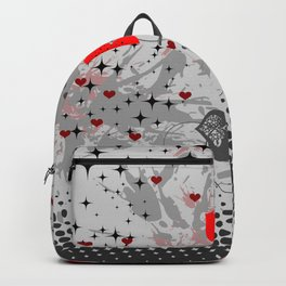 Abstract background with red hearts Backpack