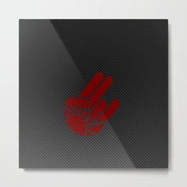 Rising Shocker Hand Carbon Metal Print