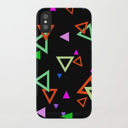 Abstract bright geometric iPhone Case