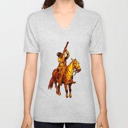 Horse Musket Soldier Unisex V-Neck