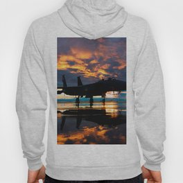 Fighter Jet Airplane at Sunset Military Gifts Hoody
