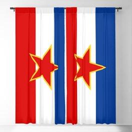 Flag of Yugoslavia Blackout Curtain
