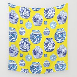 Chinoiserie Ginger Jar Collection No.2 Wall Tapestry