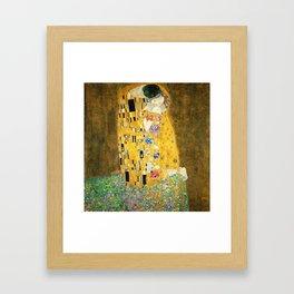 Gustav Klimt The Kiss Gerahmter Kunstdruck