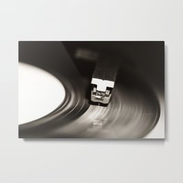 Music From a Vintage 45 RPM Record Playing on a Turntable 1 Metal Print