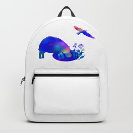 Hippo at the pond Backpack