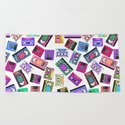 Retro 80's 90's Neon Patterned Cassette Tapes by blackstrawberry
