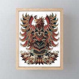 Heraldric Phoenix Framed Mini Art Print