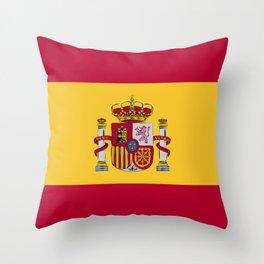 Spain flag emblem Throw Pillow
